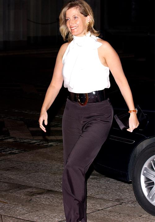 Having a good sense of fashion is nothing new for Sophie - she's pictured here in 2004 wearing a super chic black and white ensemble at The Guildhall In London. Nailing that early 00s fashion!