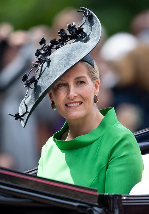 "And Sophie's pop of green at this year's [Trooping the Colour](https://www.nowtolove.com.au/royals/british-royal-family/trooping-the-colour-2019-56294|target=""_blank"") was all kinds of chic."
