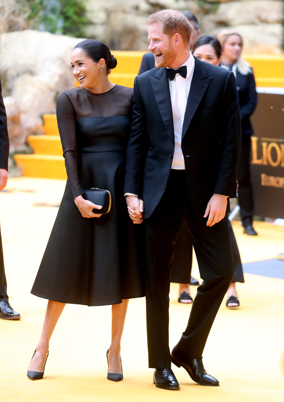 Meghan looked elegant in a Jason Wu gown, while Harry looked dapper in an all-black suit and bow tie. *(Image: Getty)*