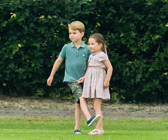 George and Charlotte reportedly had a great time at all the stalls.