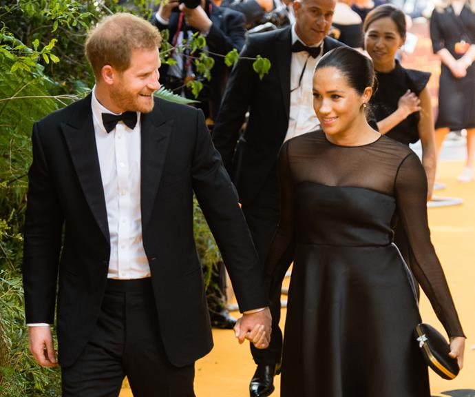 The Duke and Duchess of Sussex looking more in love than ever at the London premiere of The Lion King.