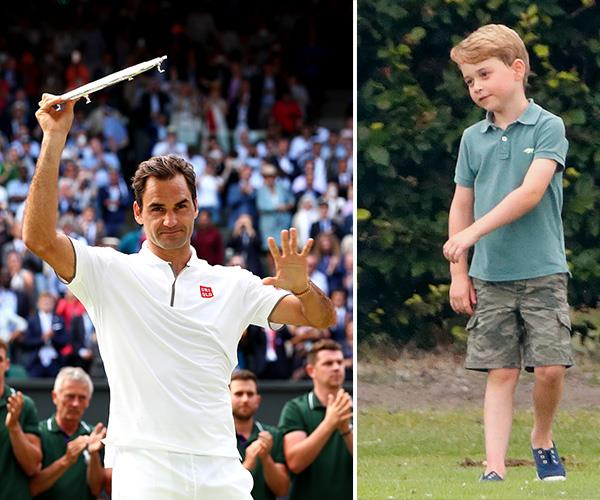 Prince George received a tennis lesson from Roger Federer himself!