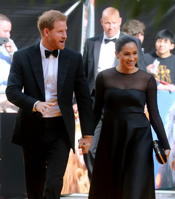 Meghan and Harry made a dazzling red carpet appearance at the London premiere.