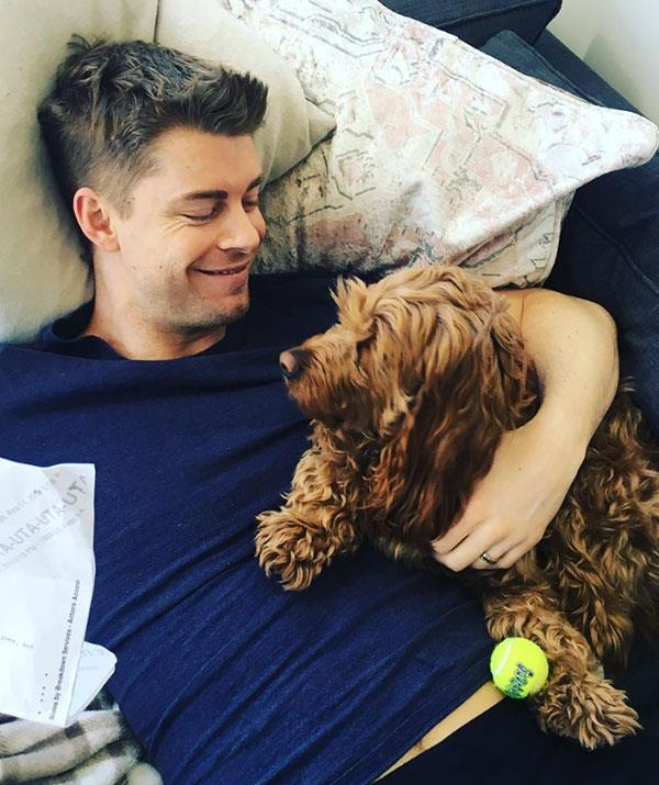 "[Bec's husband and former *Home And Away* co-star Luke Mitchell](https://www.nowtolove.com.au/celebrity/tv/luke-mitchell-rebecca-breeds-us-success-55360|target=""_blank"") also doesn't seem to mind cuddling up to the cute dog."