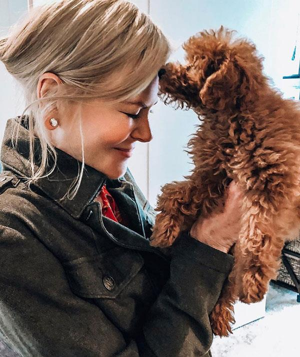 "[Nicole Kidman introduced this precious pooch](https://www.nowtolove.com.au/celebrity/celeb-news/nicole-kidman-dog-56980|target=""_blank"") to the world via Instagram. Admitting it was her first ever pet dog, the *Big Little Lies* star wrote: ""My first puppy ... actually my first dog. Been waiting my whole life for this!"""
