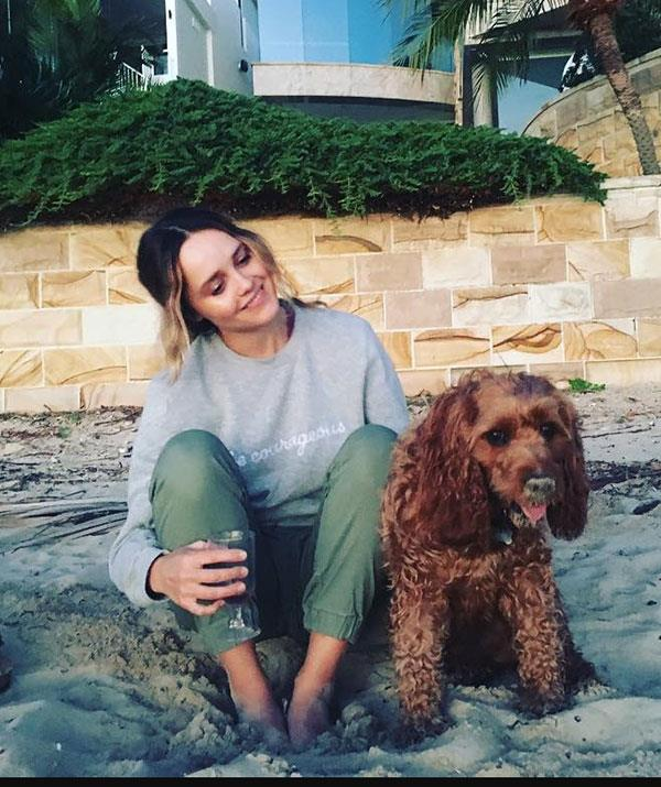 Former *Home And Away* star Rebecca Breeds never shies away from sharing pics of her pet dog Alfie.