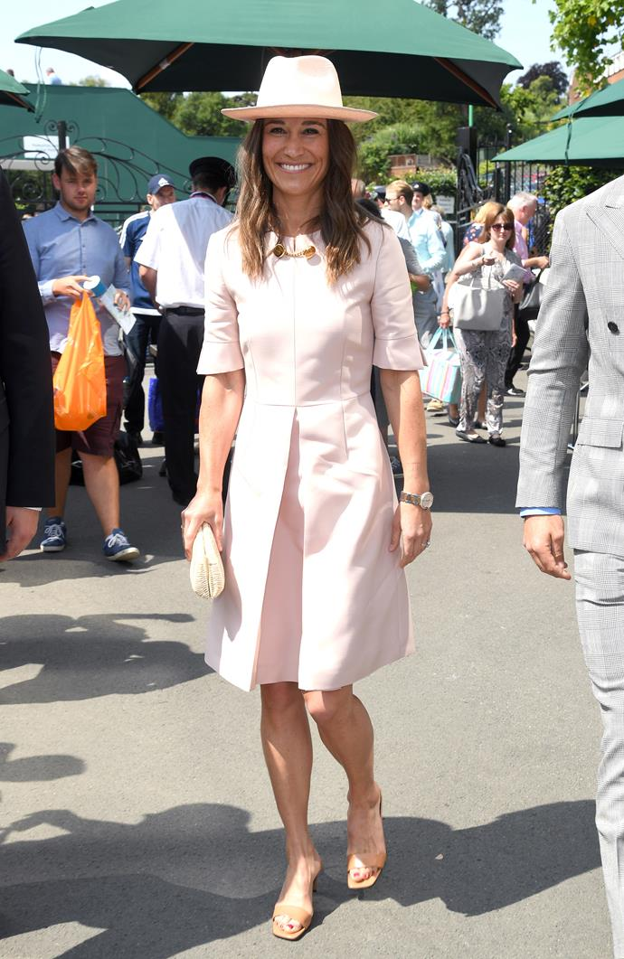 Pippa looked *so* chic in this pink Stella McCartney creation.