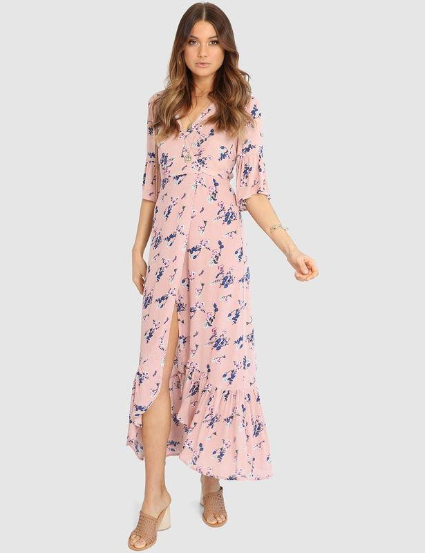"""Lost in Lunar Evaliah maxi dress, $89.95. Available via The Iconic [here](https://www.theiconic.com.au/evaliah-maxi-dress-833673.html