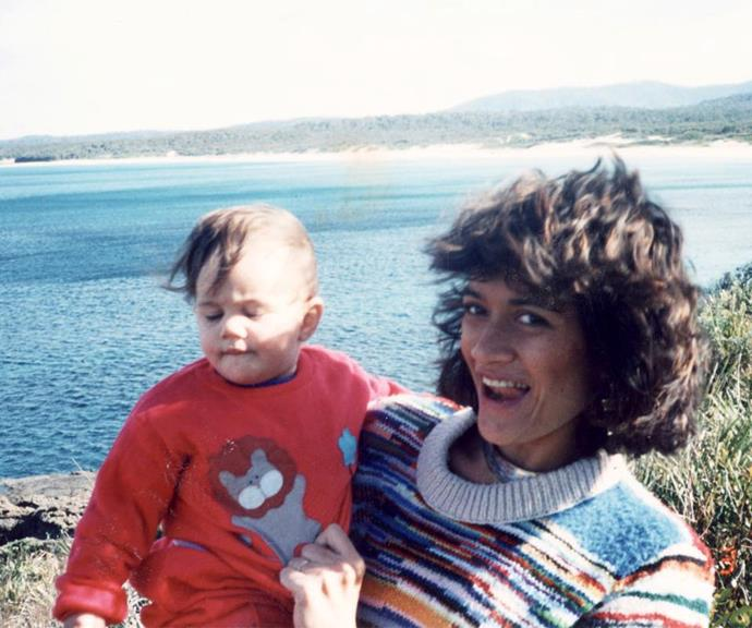 Turia (left) with her mother as a baby.