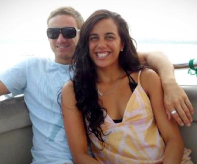 Turia and her fiance Michael pictured before the fire.