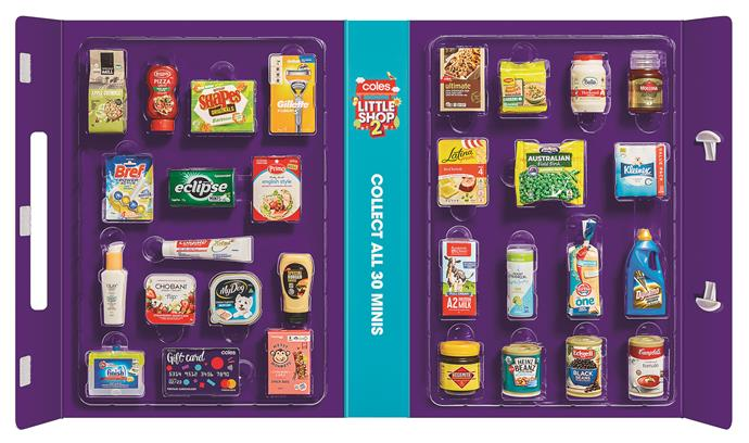 The full Little Shop 2 collection features 30 mini supermarket items.