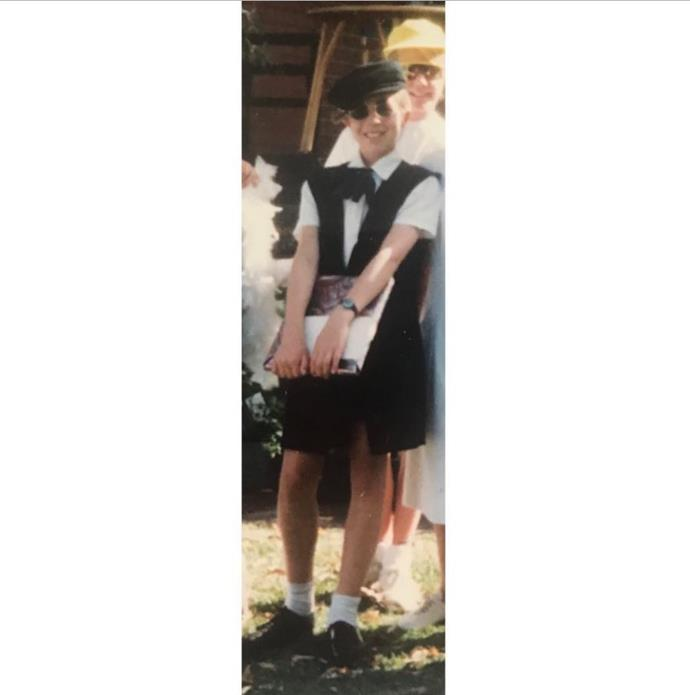 Carrie wanted to be a journalist since she was in year seven when she dressed up as one for school. Because all journalists wear berets, right?