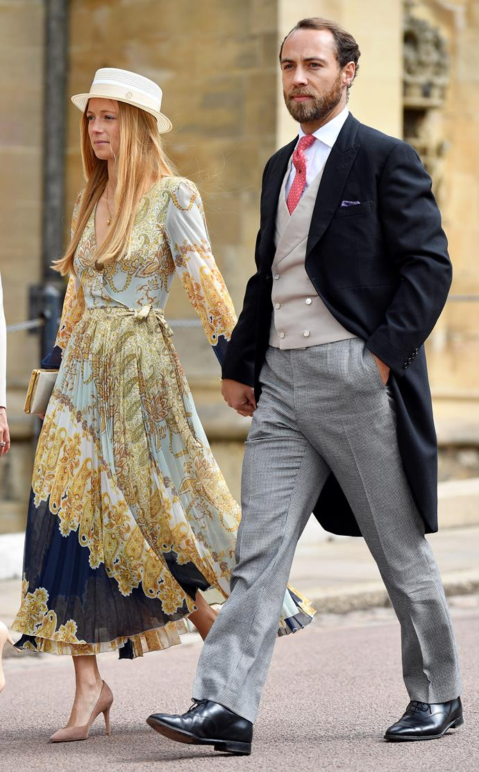 Alizee was James' date to Lady Gabriella Windsor's royal wedding.