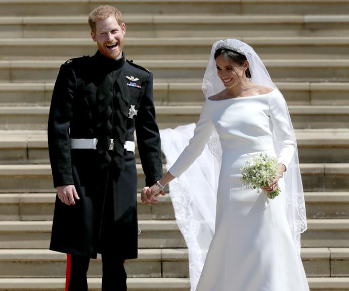 **Prince Harry and Meghan Markle** <br><br> The stunning wedding of Harry and Meghan was watched around the world by billions of royal fans, but it was actually the second time Meghan had walked down the aisle.  <br><br> She was previously married to actor and producer Trevor Engelson - they dated for seven years before marrying in 2011, but filed for divorce in 2013.  <br><br> Meghan later dated celebrity chef Cory Vitiello, before they split in May 2016, just months before she was introduced to the dashing Prince Harry in London. And the rest, as they say, is history.