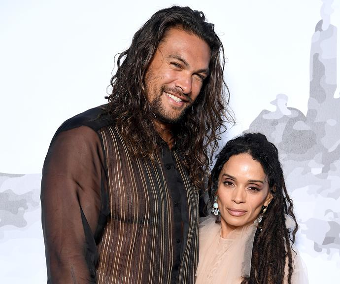 **Jason Momoa and Lisa Bonet** <br><br> Lisa Bonet eloped with rockstar Lenny Kravitz more than 30 years ago in 1987 and have a daughter together, *Big Little Lies* star Zoe Kravitz. The pair separated in 1993.  <br><br> More than 10 years later in 2005 she began dating hunky actor Jason Mamoa and they married more than 12 years later in October 2017. The couple have a daughter and a son.