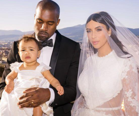 **Kim Kardashian and Kanye West** <br><br> The reality star and makeup mogul has been married quite a few times. When she was 19 she eloped with music producer Damon Thomas, but they were divorced three years later, with Kim blaming the split on physical and emotional abuse.  <br><br> Km is also famous for having one of the shortest marriages in history, after her marriage to sports star Kris Humphries lasted just 72 days.  <br><br> While Kim was still technically married to Kris, she officially began dating Kanye, who she had been friends with for years. They were engaged in 2013 and married in an extravagant ceremony in Florence, Italy in 2014.  The couple now have four children together - North, Saint, Chicago and Psalm.