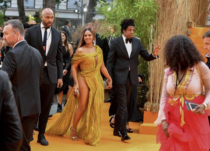 Beyoncé didn't hold back on the red (or more accurately, yellow) carpet.