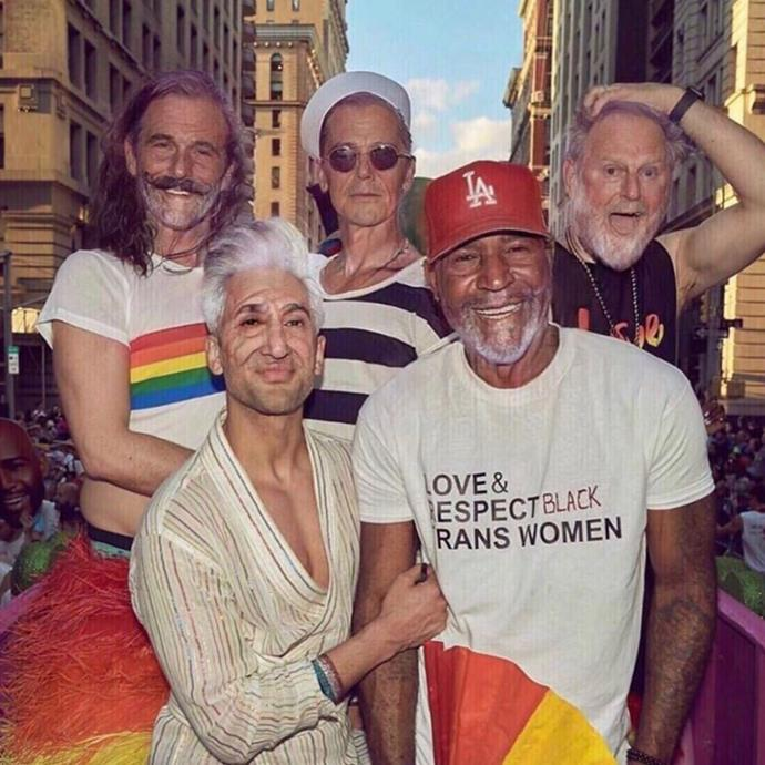 Fab (Five) at any age! The *Queer Eye* gang showed their more mature side.