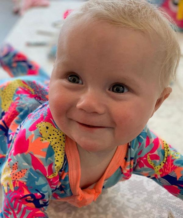 """Addie recovered from reflux and is now: """"7 months of deliciousness""""."""