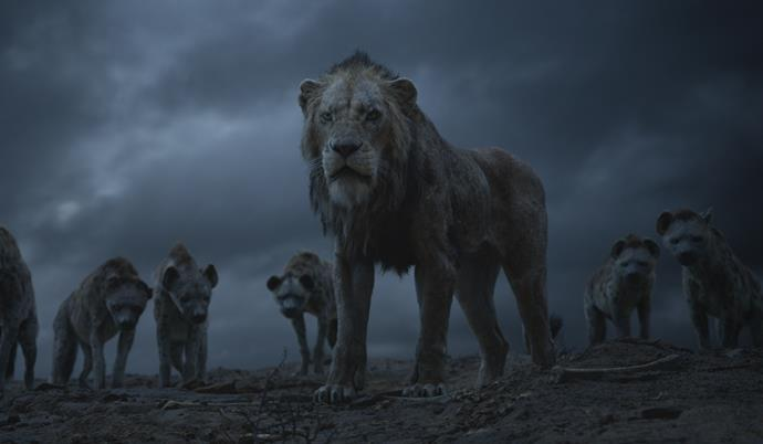 Scar and the hyena's are enough to freak *anyone* out.