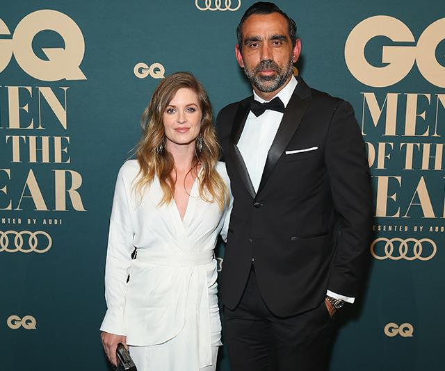 Goodes and his wife Natalie Croker.