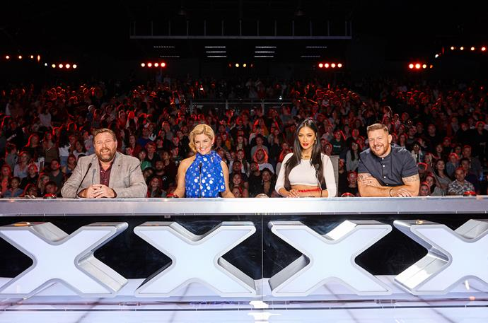 From left: Shane Jacobson, Lucy Durack, Nicole Scherzinger and Manu Feildel.