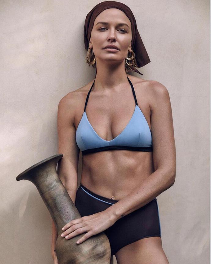 The gorgeous star stunned us with her bikini body in this campaign for Australian fashion designer Albus Lumen.