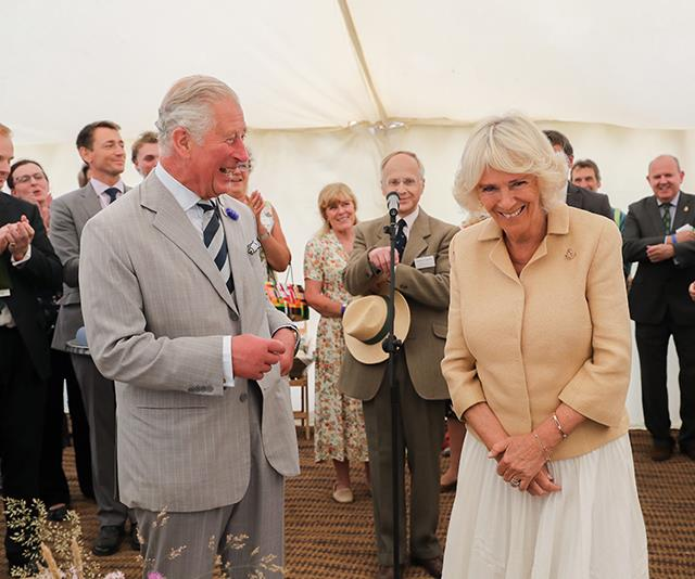 Prince Charles and Duchess Camilla couldn't look more in love.