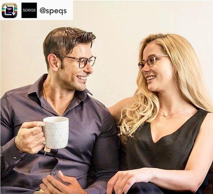 Dino Hira and Jessika Power were in an ad for Speqs.