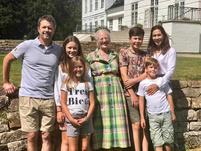 What a sight! Crown Princess Mary's family look relaxed and happy as they enjoy the European summer.