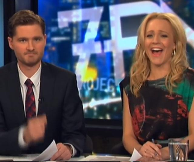 **Charlie Pickering and Carrie Bickmore's friendship**  Before Waleed came on board, his predecessor Charlie Pickering was holding his own on the desk. But it was his rapport with co-host Carrie Bickmore that really shone through (see them stuff up an intro below). In Charlie's farewell episode, there was not a dry eye in the house when Charlie admitted how much he'd miss working with Carrie.