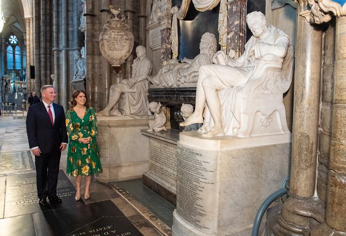 Princess Eugenie was seen surverying a statue of a famed anti-slavery worker William Wilberforce.
