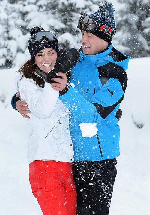 Prince William and wife Kate continued the tradition recently visiting the French Alps for their own fun in the snow.