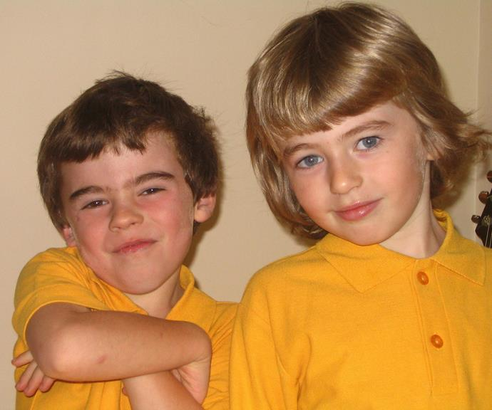 Georgie with her twin brother Harry as kids.