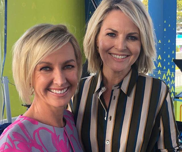 Deborah (left) hosts *Today* with Georgie Gardner (right) but her family is her number one priority.