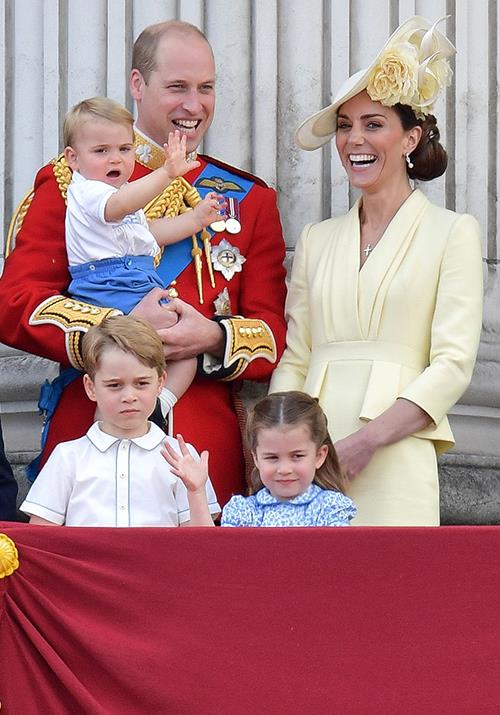 The Cambridge family were a sight to behold to Trooping the Colour.