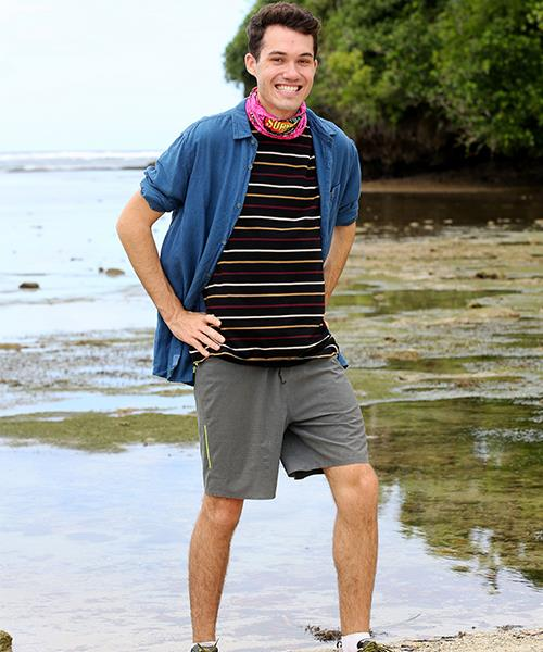 **Baden Gilbert, 23, science student, CONTENDER** <br><br> Science may not be top of the skills list when it comes to the game of *Survivor*, but after watching last year's genius Sam make it to Jury Villa, Baden was inspired to give it a go.