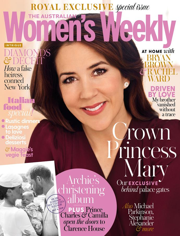 The August issue of The Australian Women's Weekly, with Crown Princess Mary on the cover, is on sale now.