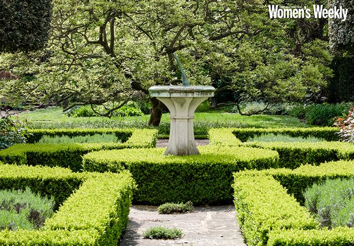 The Rosicrucian formal garden, created by the Prince of Wales in memory of his grandmother.