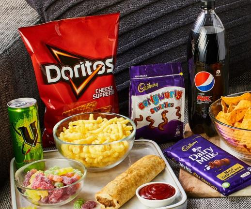 Some of the tasty snacks you can order on Couchfood.
