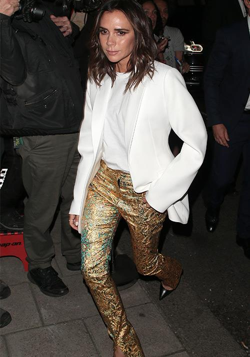 She really does love a statement pant.