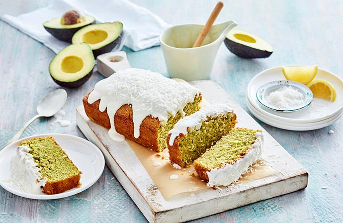 Forget the butter, this pound cake tastes ten times better with the addition of avocado.