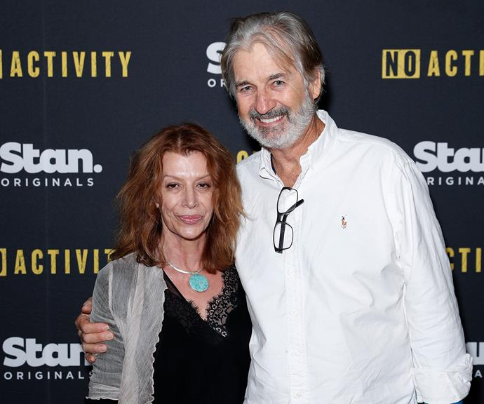 Rosa and John Jarratt pictured in November 2017, just a few months after they were married for a second time.