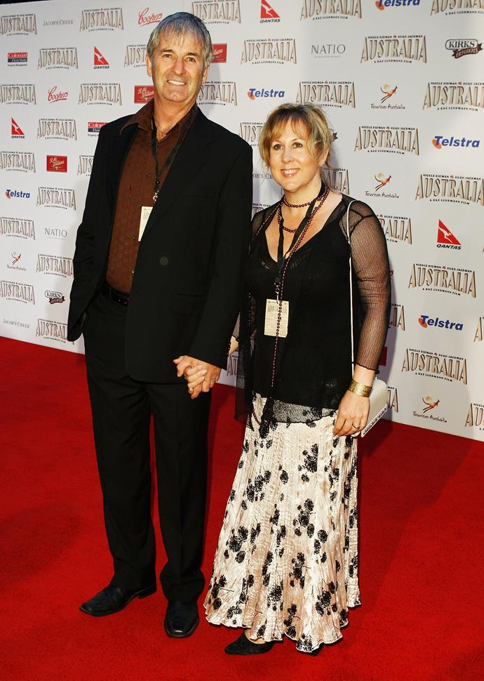Jarratt with his third wife Cody Jarratt pictured at a film premiere in 2008.