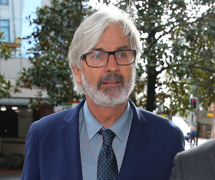 John Jarratt pictured outside court in July.