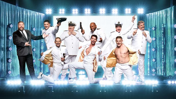 Clockwise from top left: host Shane Jacobson, Brendan, John, Lote, Sam, Dipper, George, Matty J and choreographer Todd.