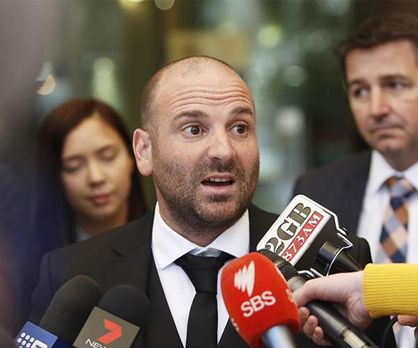 George Calombaris,who was embroiled in an argument at the A-League Grand Final in 2017, won his appeal against a conviction in January 2018.