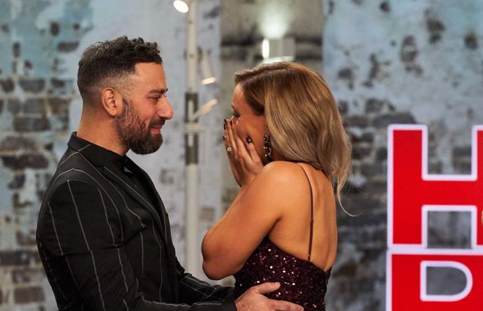 Tears all round for Pete and Courtney!