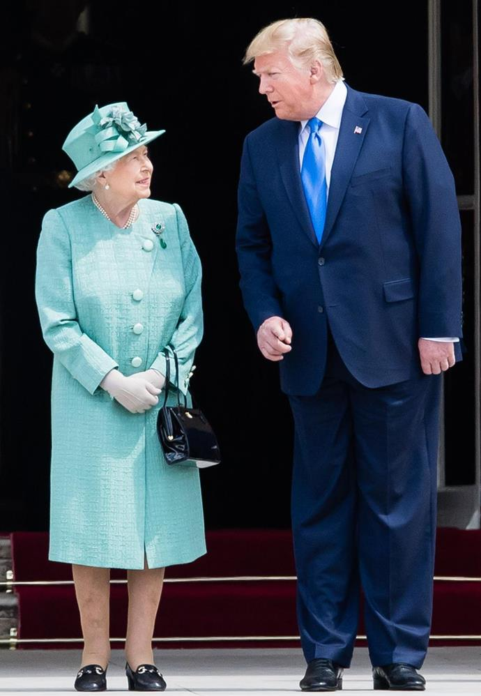 Did the Queen try to suggest something on Donald Trump's latest visit to the UK perhaps?!
