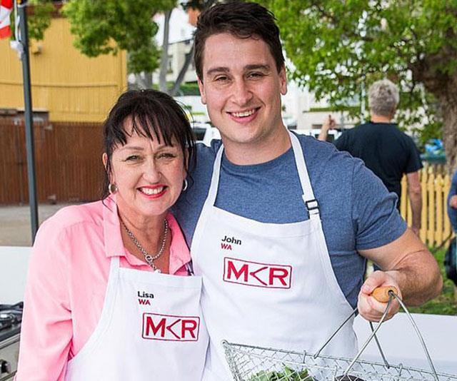 John competed on *MKR* with his mum Lisa.